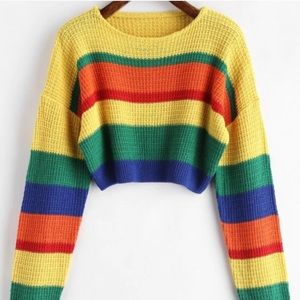 Colorful Cropped Sweater